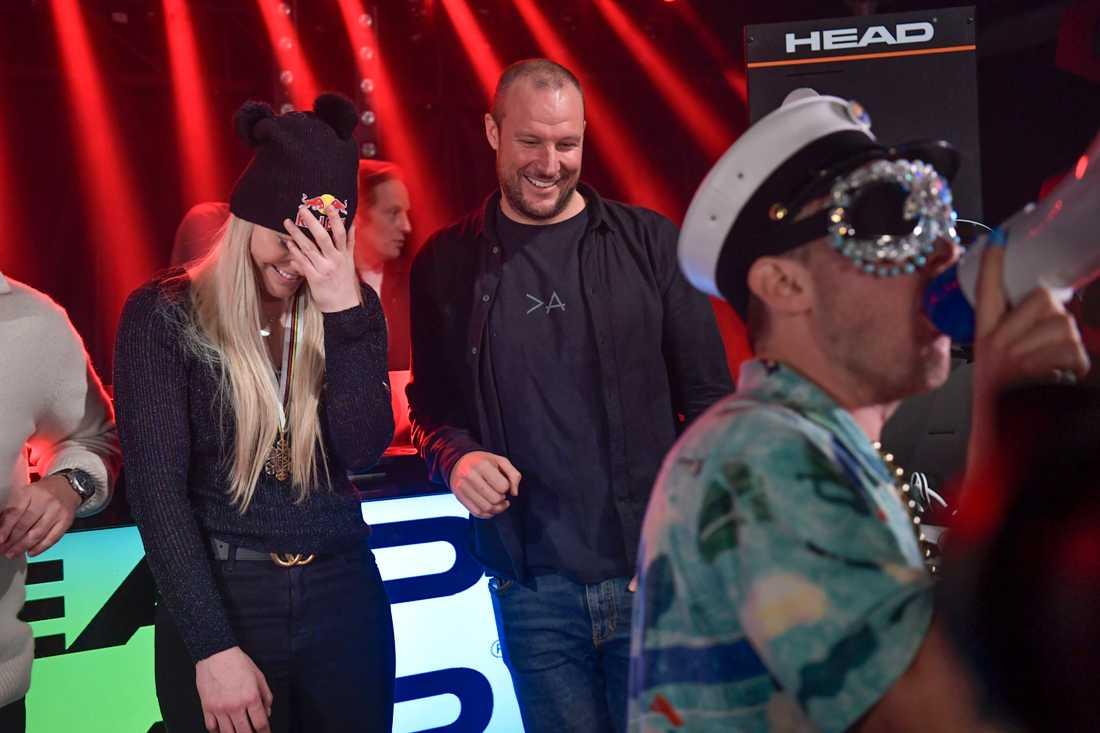 Kvällens – och nattens – avskedsfest för Lindsey Vonn och Aksel Lund Svindal.