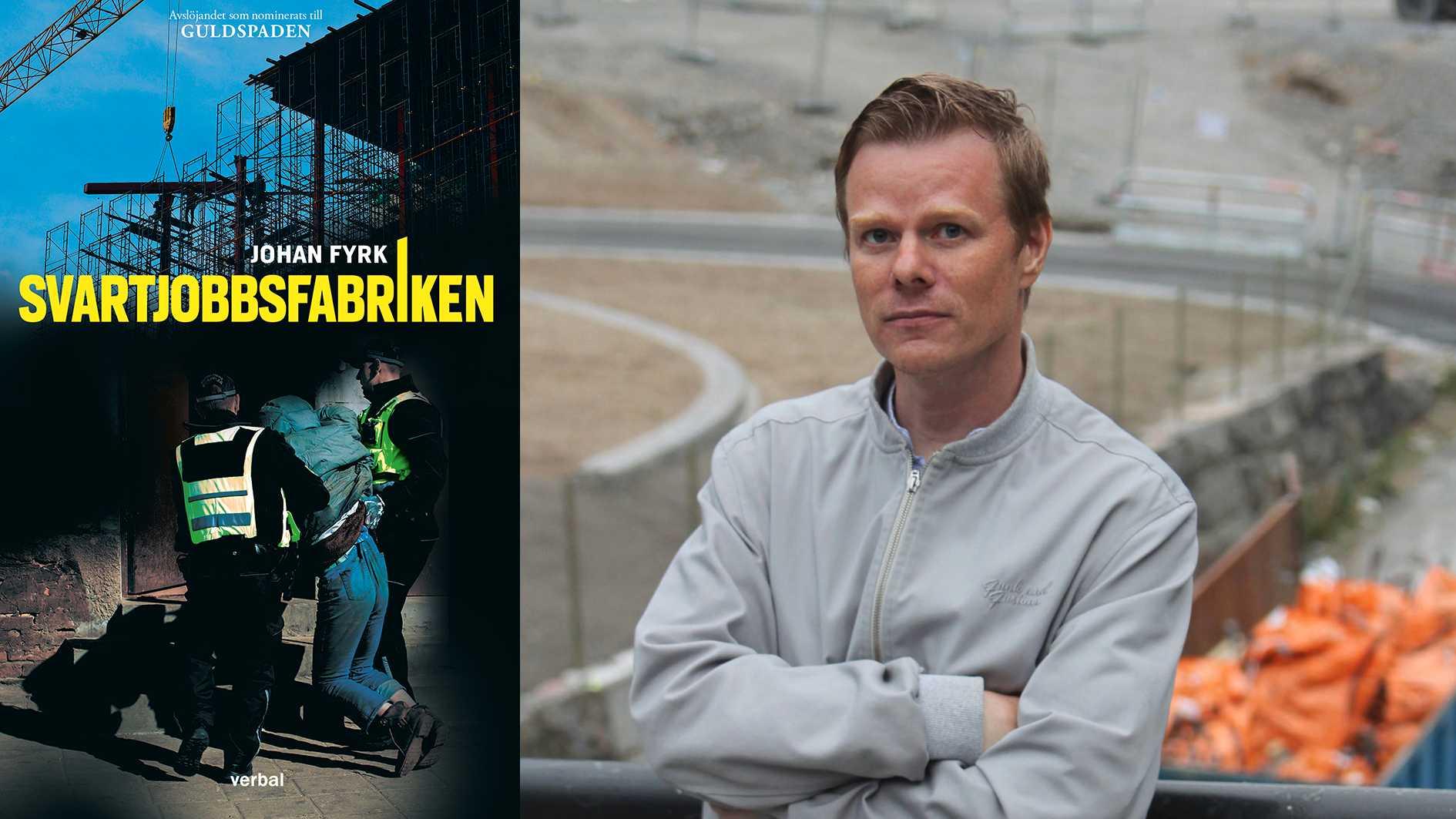 """Johan Fyrk (född 1977) är reporter på Byggnadsarbetaren. 2020 nominerades han till Guldspaden för reportageserien """"Svartjobbsfabriken""""."""