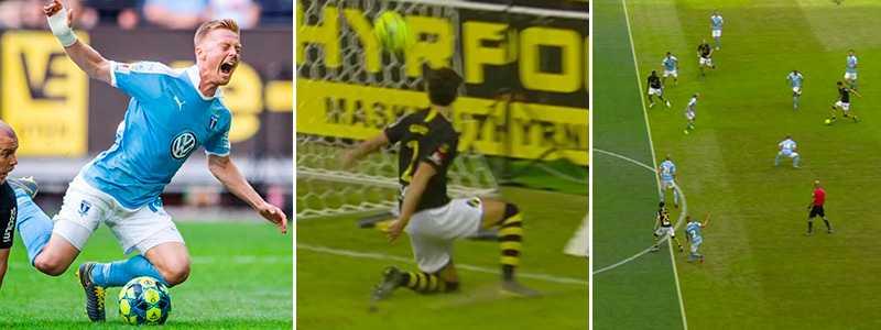 MFF ville ha straffspark vid två tillfällen – och AIK fick ett mål bortdömt för offside.