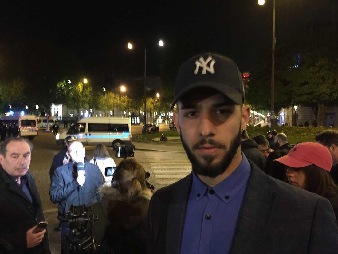 Yilmaz Ogur blev vittne till attacken i Paris.