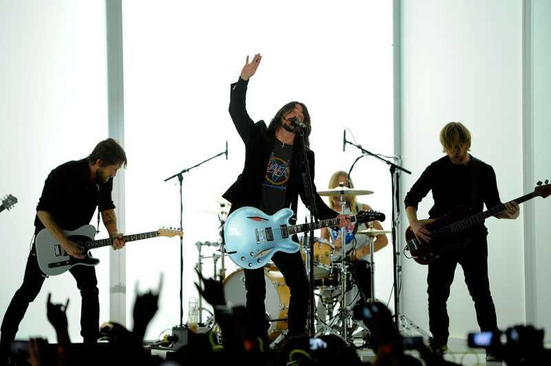 Foo Fighters med sångaren Dave Grohl.