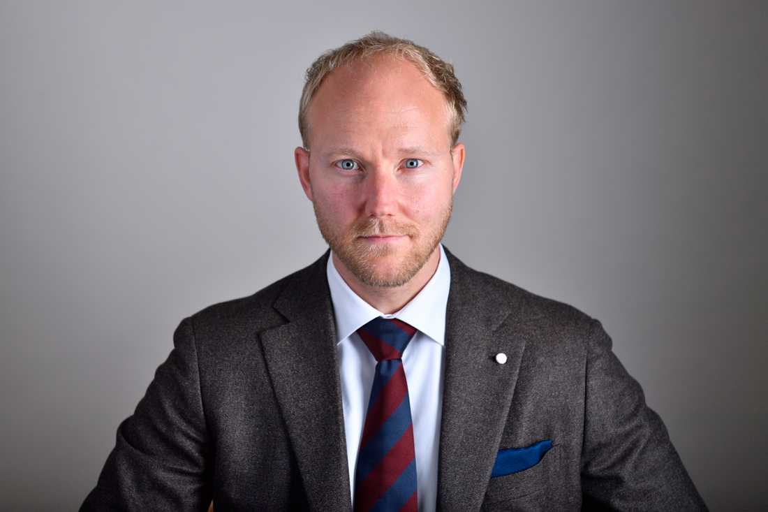 Ludvig Aspling (SD) kom inte i tid till en omröstning i EU-nämnden. Arkivbild.