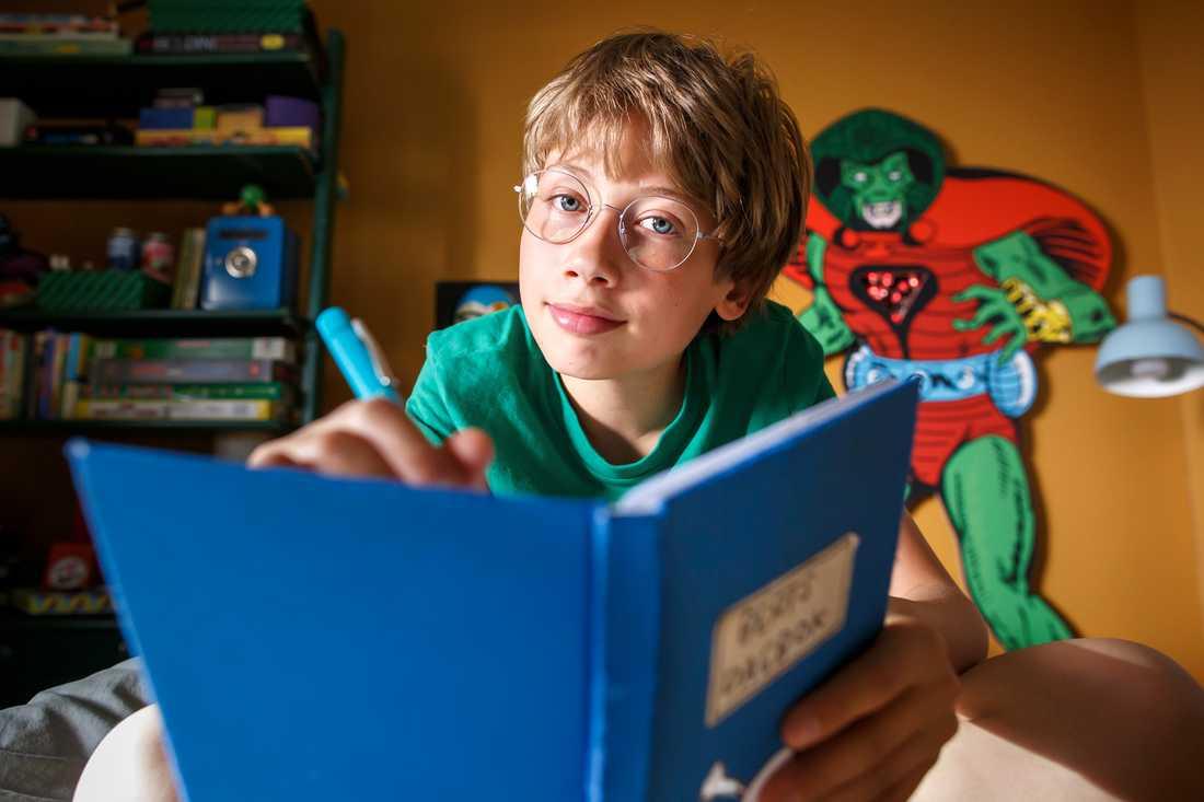 """Hugo Krajcik gör rollen som Bert när den kultförklarade boken """"Berts dagbok"""" blir nya biofilm och får premiär i augusti."""
