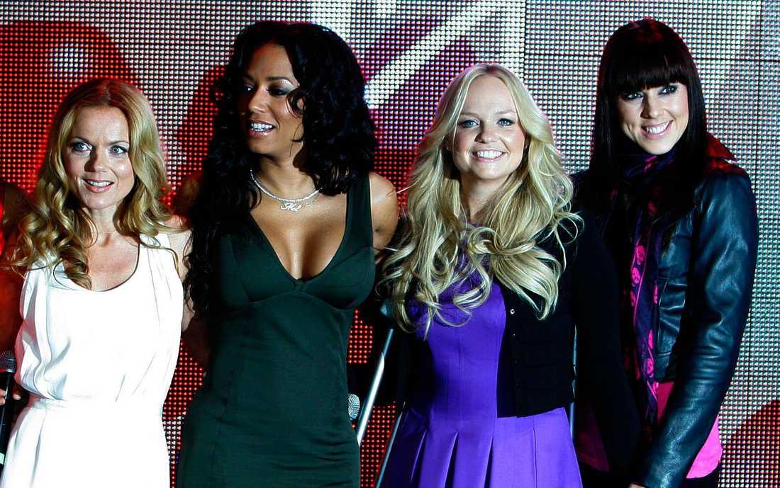 Spice Girls (gruppen återförenades utan femte medlemmen Victoria Beckham).