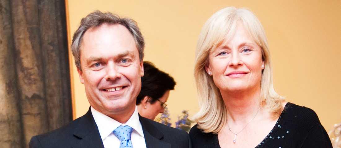 Utbildningsminister Jan Björklund (FP) och hustrun Annika Brifalk.