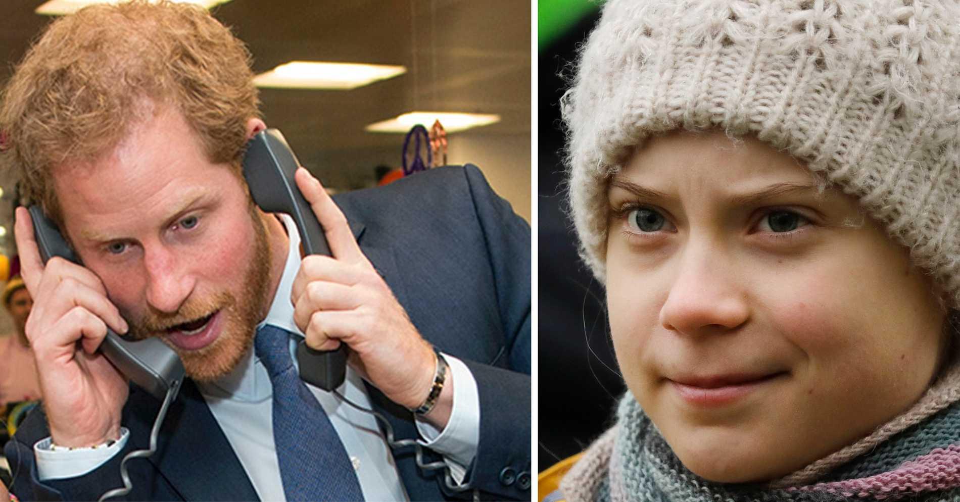 Greta Thunberg-kopia lurade Harry att tala ut om Megxit och Trump