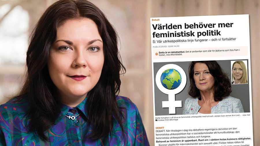 För Ann Linde handlar det inte om att vara poppis utan att våga stå upp för kvinnors rättigheter även när egna intressen hotas, skriver Elin Liss.