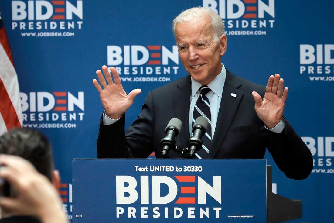 """Joe Biden utlovar en utrikespolitik som inte bygger på """"Twitter-utbrott""""."""