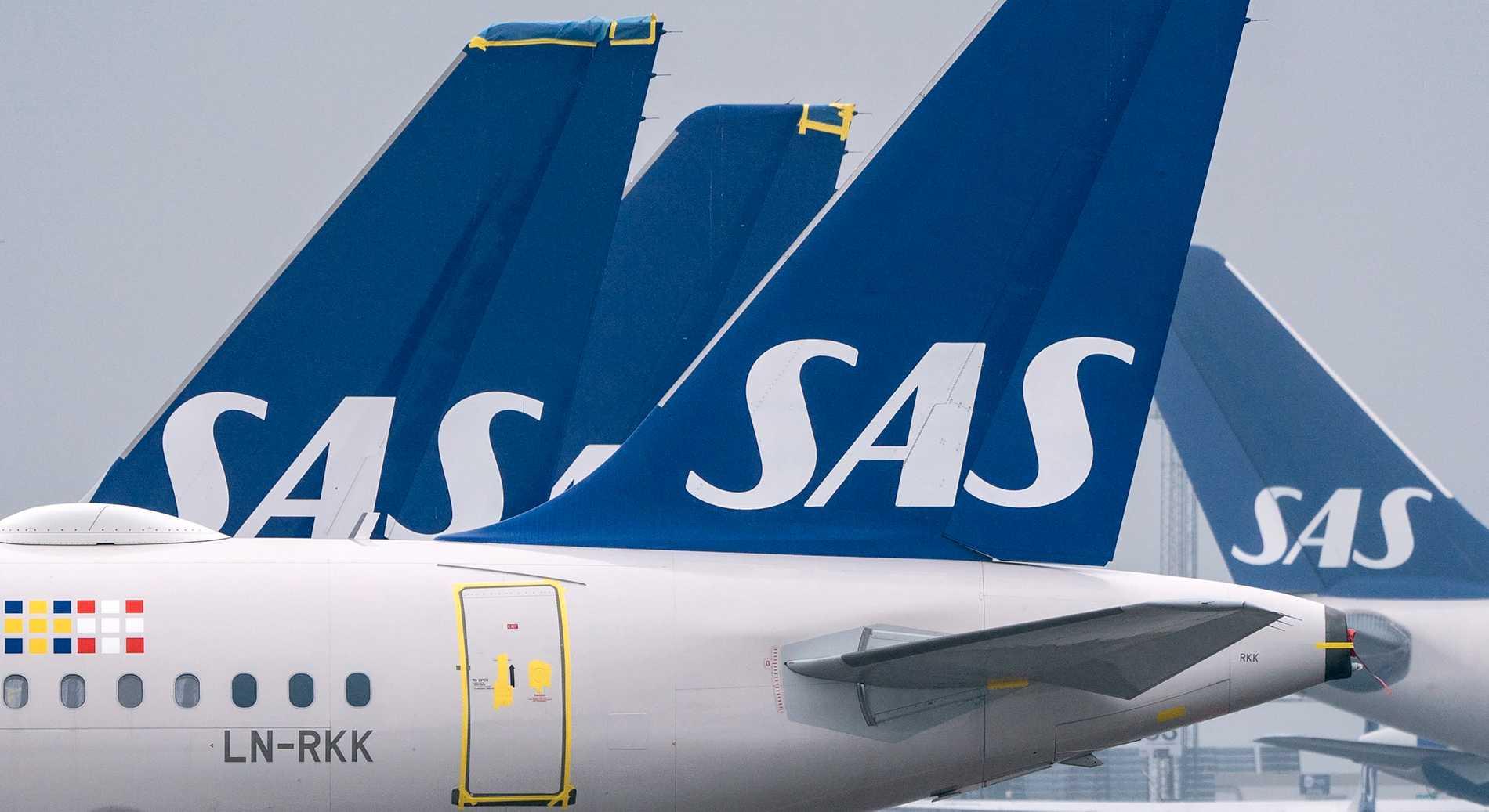 SAS-plan på Kastrups flygplats i Köpenhamn. Arkivfoto.