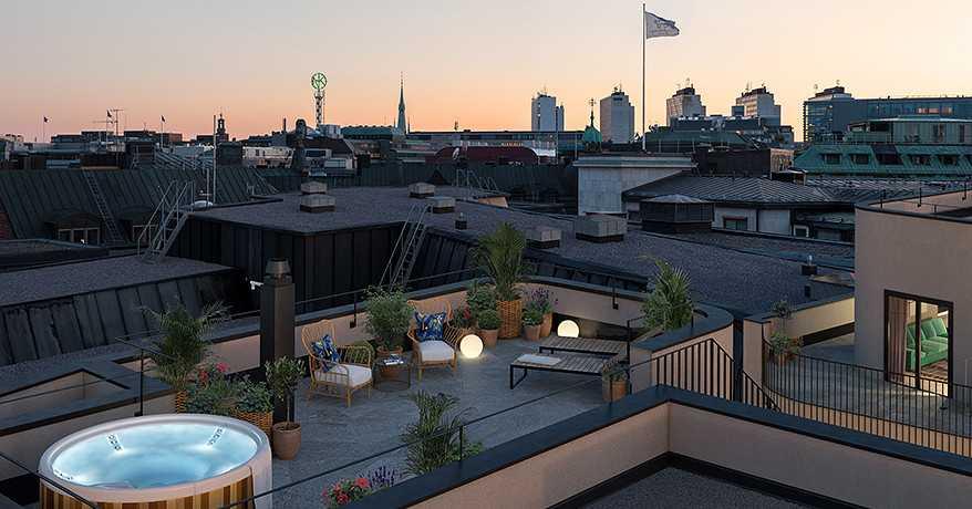 Markus Perssons nya lya verkar ha allt – till och med en jacuzzi på taket.