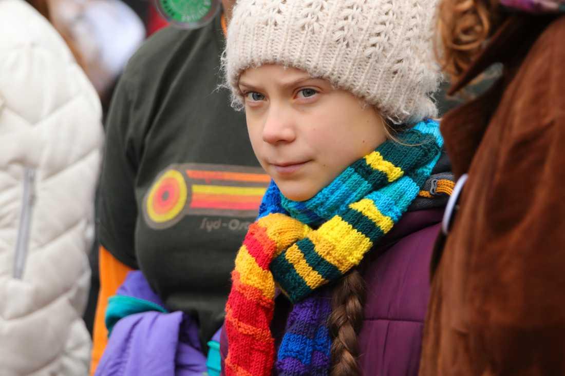 Greta Thunberg donerar motsvarande 986000 kronor till FN:s barnfond Unicef. Arkivbild.