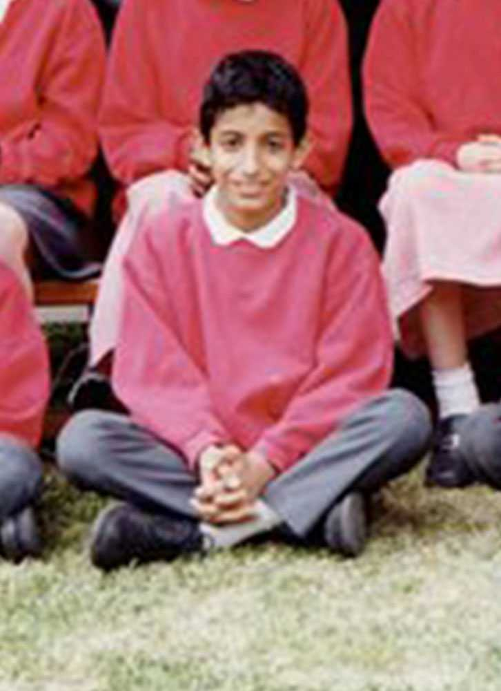 Mohammed Emwazi som 10-åring på ett skolfoto.