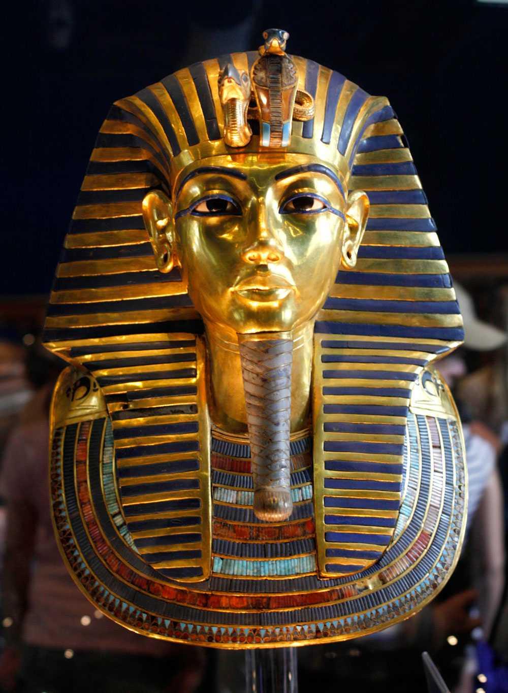Tutankhamuns mask i guld. Finns att beskåda på Egyptiska museet i Kairo.