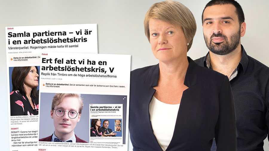 Kombinationen av att inte förstå ekonomiska samband och att inte bry sig om vanliga människors livsvillkor, gör Timbro särdeles olämpliga som politikleverantör till regeringen. Låt oss ta människors oro på allvar och investera Sverige ur arbetslöshetskrisen, skriver Ulla Andersson och Ali Esbati.