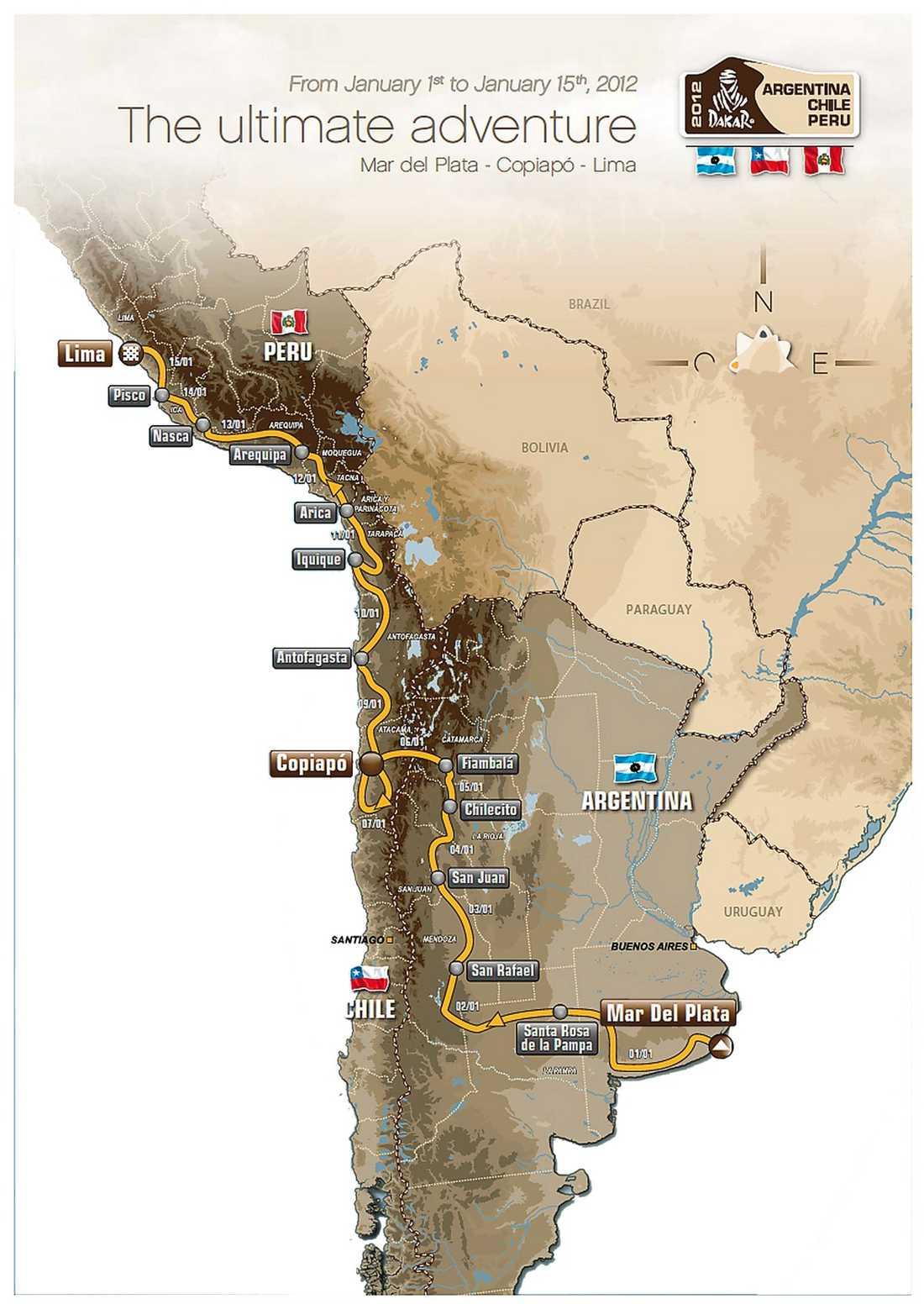 Så körs årets Dakarrally.