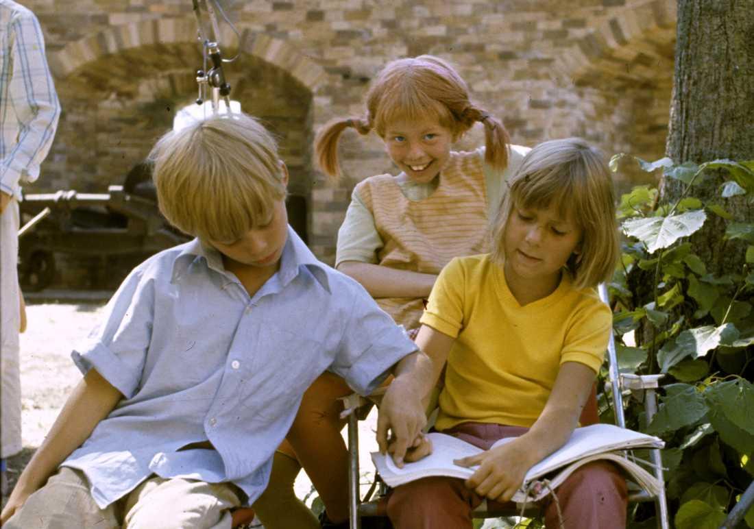 Pär Sundberg och Maria Persson spelade syskonen Tommy och Annika.