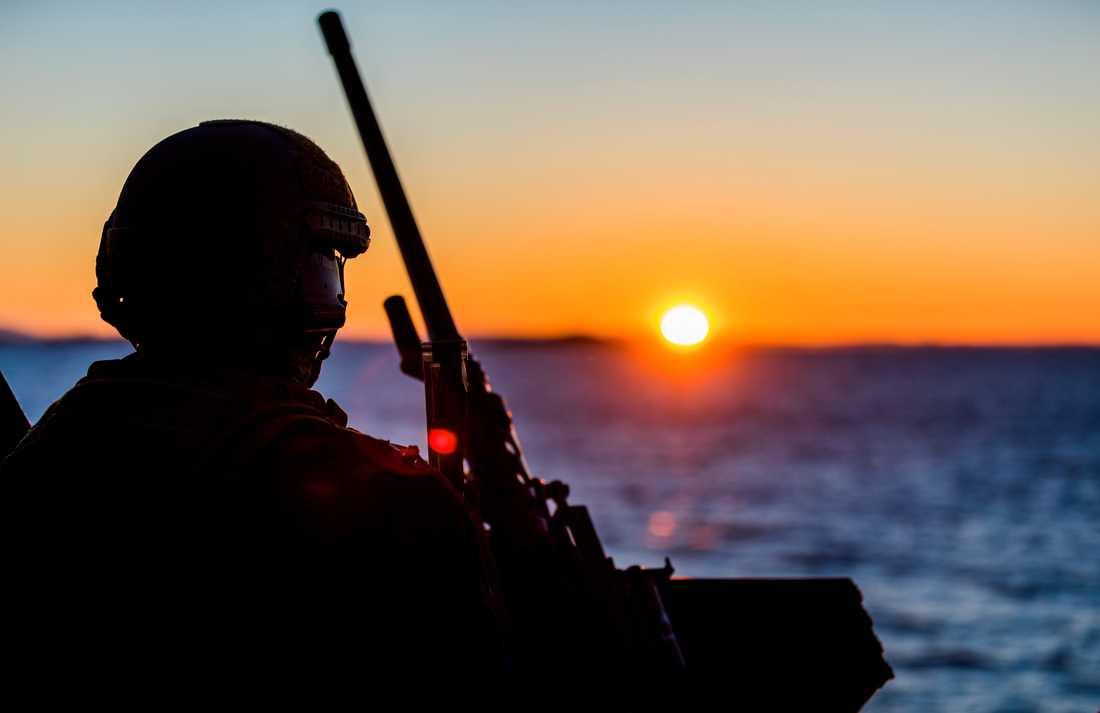 En norsk soldat under en Natoövning. Arkivbild.