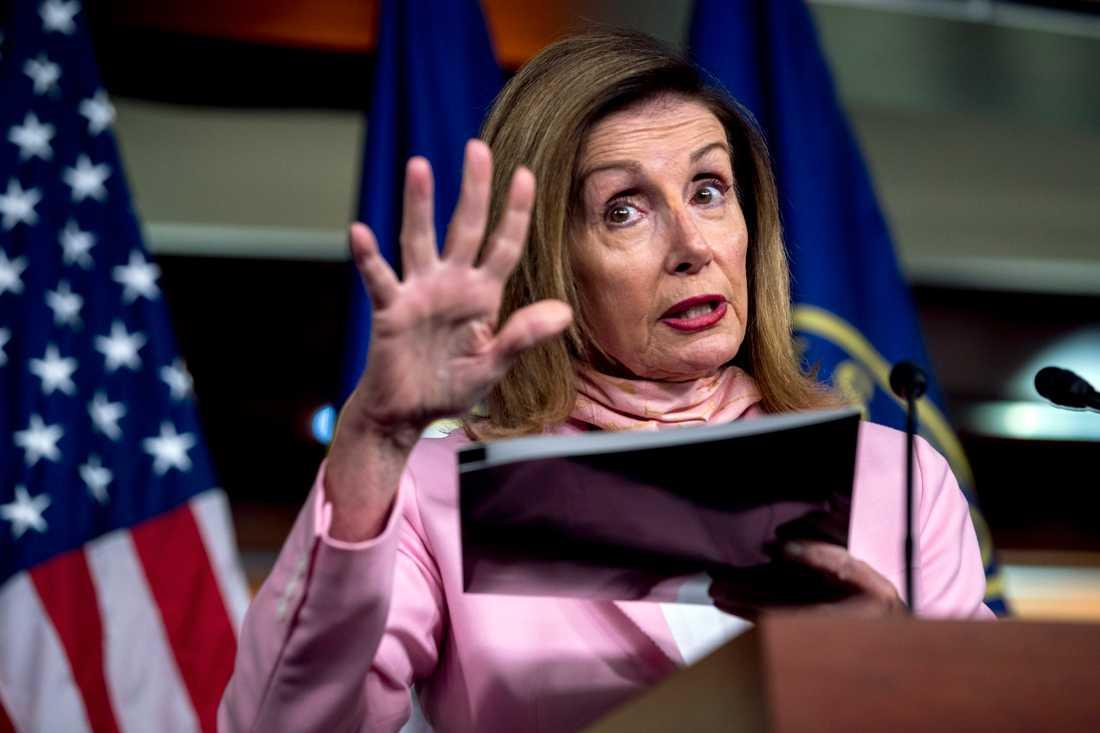 Demokraten Nancy Pelosi, talman i det amerikanska representanthuset.