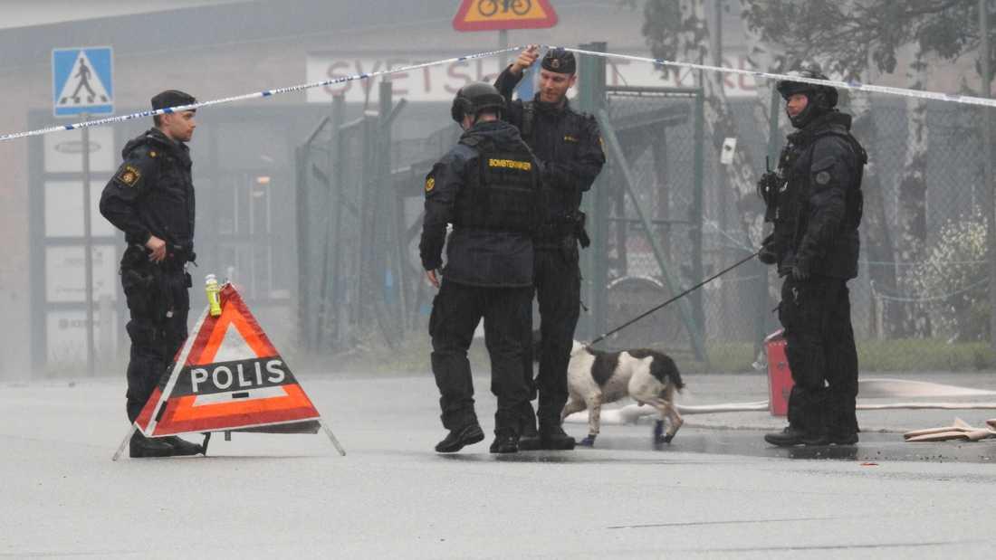 Bombskyddet på plats i Örebro.