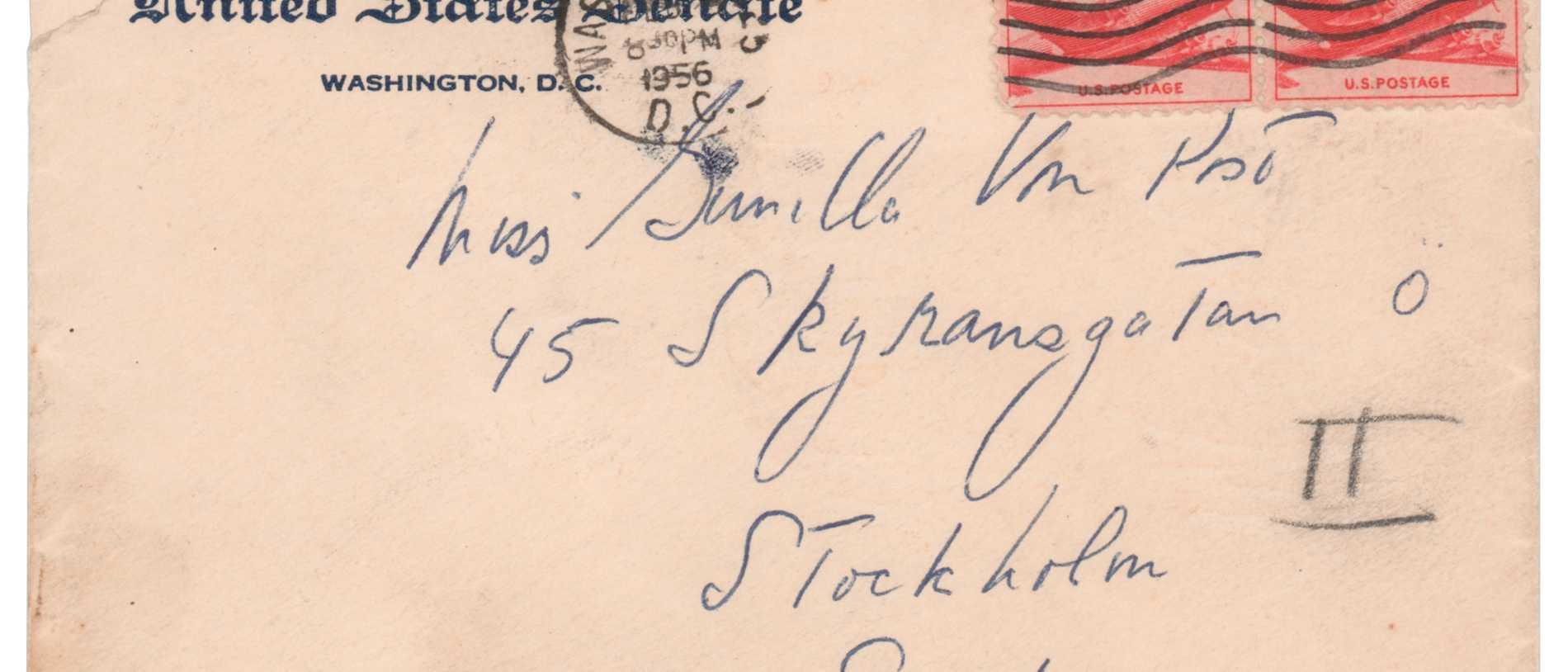 Kennedys brev till svenska säljs på auktion