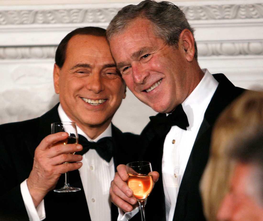 Med USA:s förre president George Bush.
