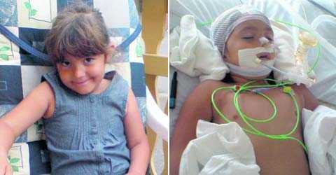 Meya, 4, har varit inlagd på sjukhus åtta gånger för sin astma. I vanliga fall brukar det gå bra, då har hon fått den vård hon behöver i väntan på läkare. När Meya i söndags fick ännu ett astmaanfall kollades bara syresättningen, sedan hänvisades hon till primärvårdsjouren. Stunden senare slutade hjärtat att slå. Nu riskerar Meya allvarliga hjärnskador.