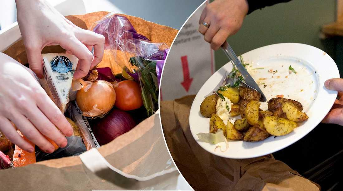 Mat för upp till 6 000 kronor slänger varje hushåll per år.