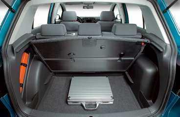 VW Golf plus har 43 smarta förvaringsfack.