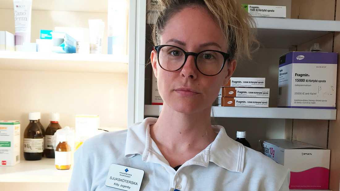 Kitty Jogenby, sjuksköterska på palliativ avdelning 78CX, Akademiska Sjukhuset.