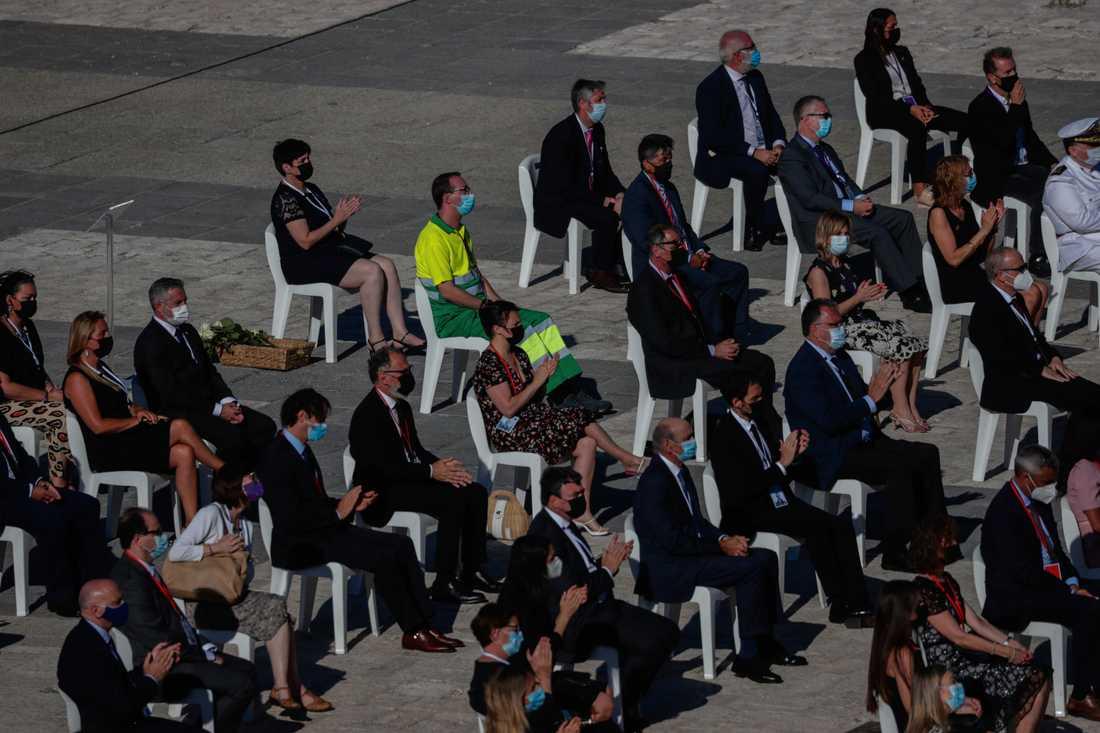 Ceremonin i den spanska huvudstaden samlade såväl anhöriga till avlidna som inhemska och internationella dignitärer.