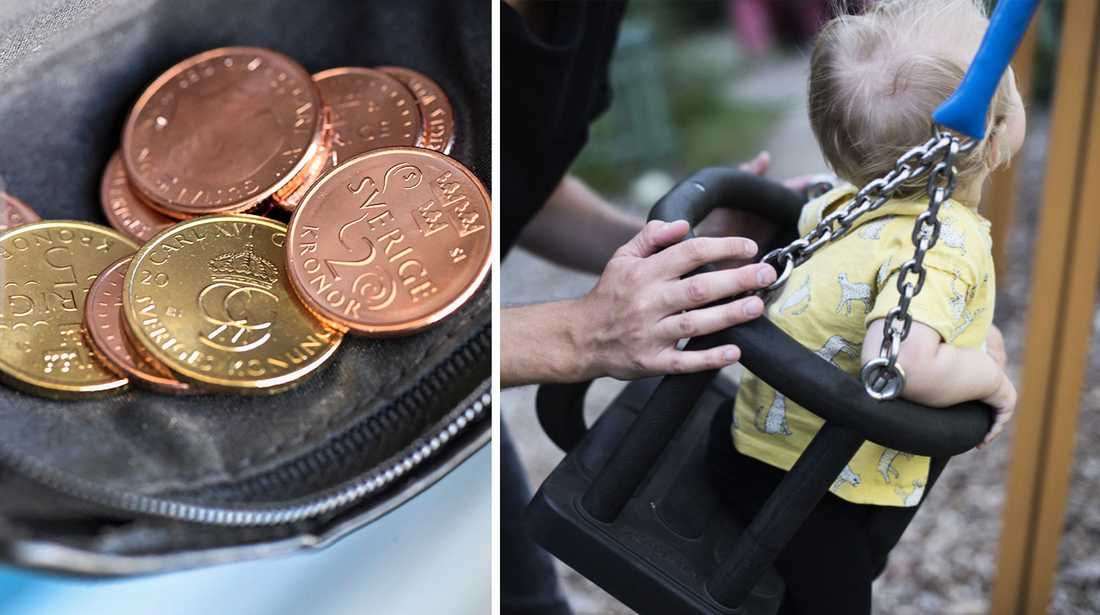 Tusentals barn lever i familjer som under en längre tid har haft svårt att få pengarna att räcka till det nödvändigaste, som exempelvis mat, kläder och bostad. Arkivbild.