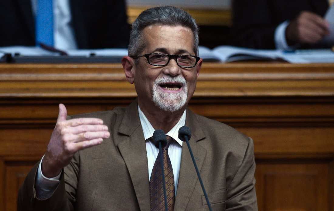 Oppositionspolitikern Americo De Grazia. Arkivbild.