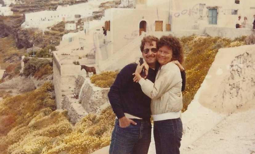 Jim och Patti Ryan på sin bröllopsresa på Grekland, maj 1980.