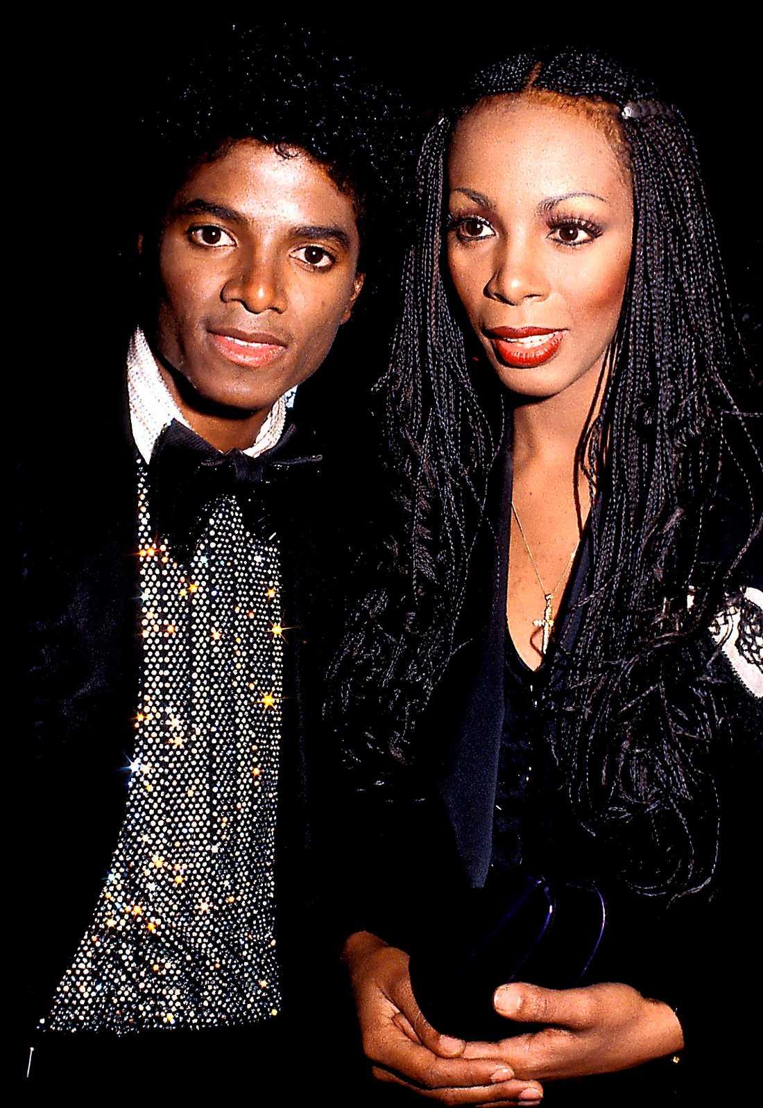 Superstjärnorna Michael Jackson och Donna Summer 1980.