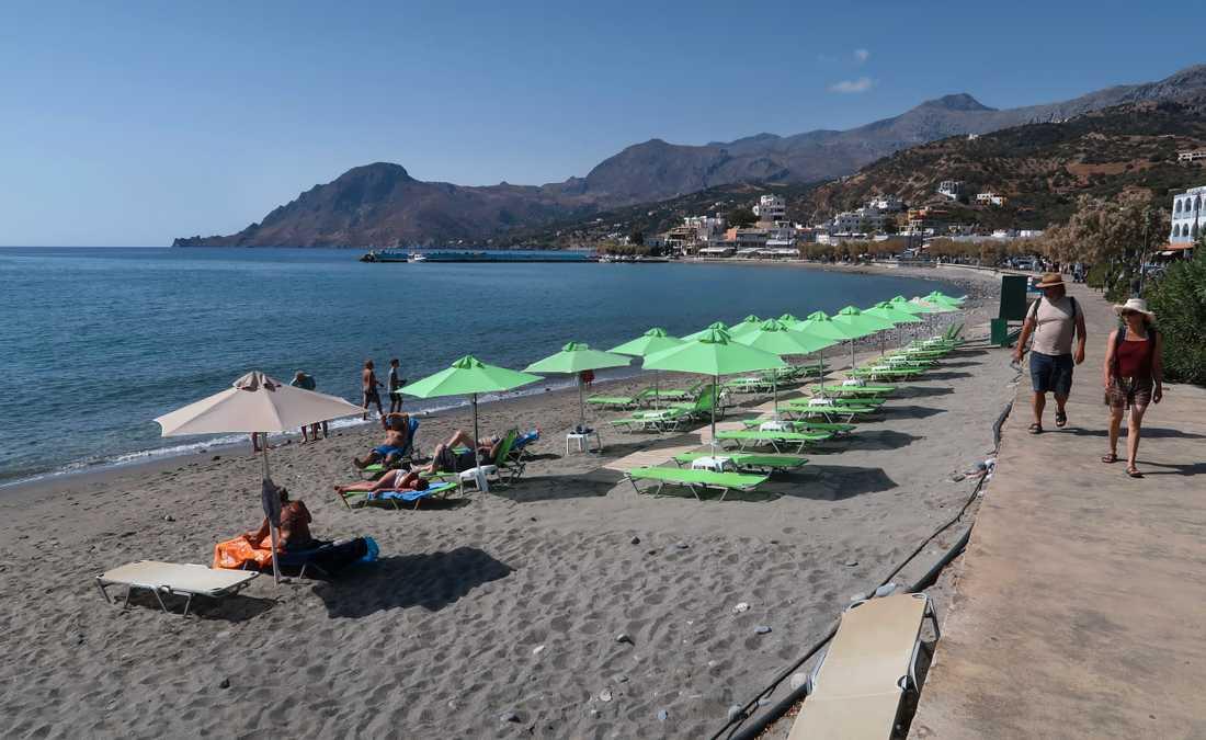 Kreta i Grekland är ett av resmålen som är billigt nu i maj. Arkivbild.
