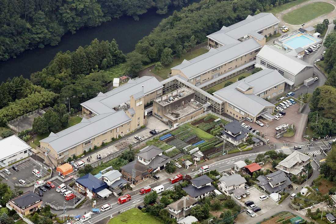Knivattacken skedde på ett boende för funktionshindrade i Sagamihara, sydväst om Tokyo.