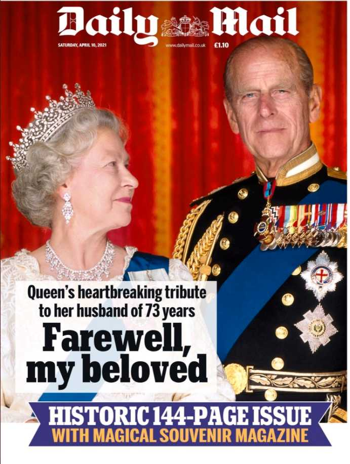 """Daily Mail: """"Farväl, min älskade""""."""
