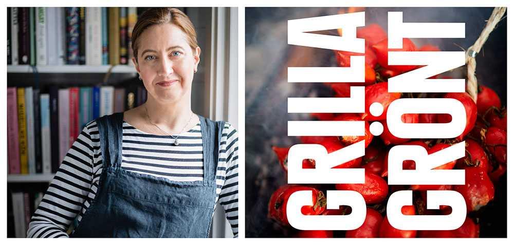 """Malin Landqvist är författare till boken """"Grilla Grönt""""."""