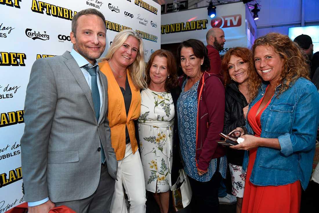 SVT representerades bland annat av Anders Holmberg, Camilla Kvartoft, Anna Hedenmo och Anna Lindman.