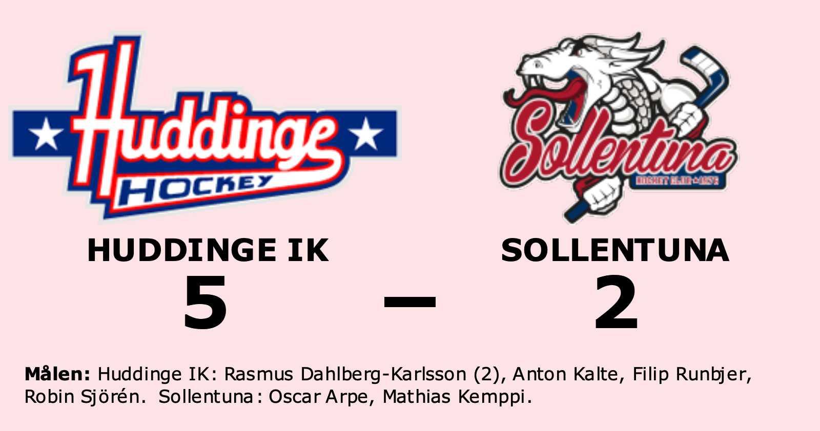 Rasmus Dahlberg-Karlsson gjorde två mål när Huddinge IK vann