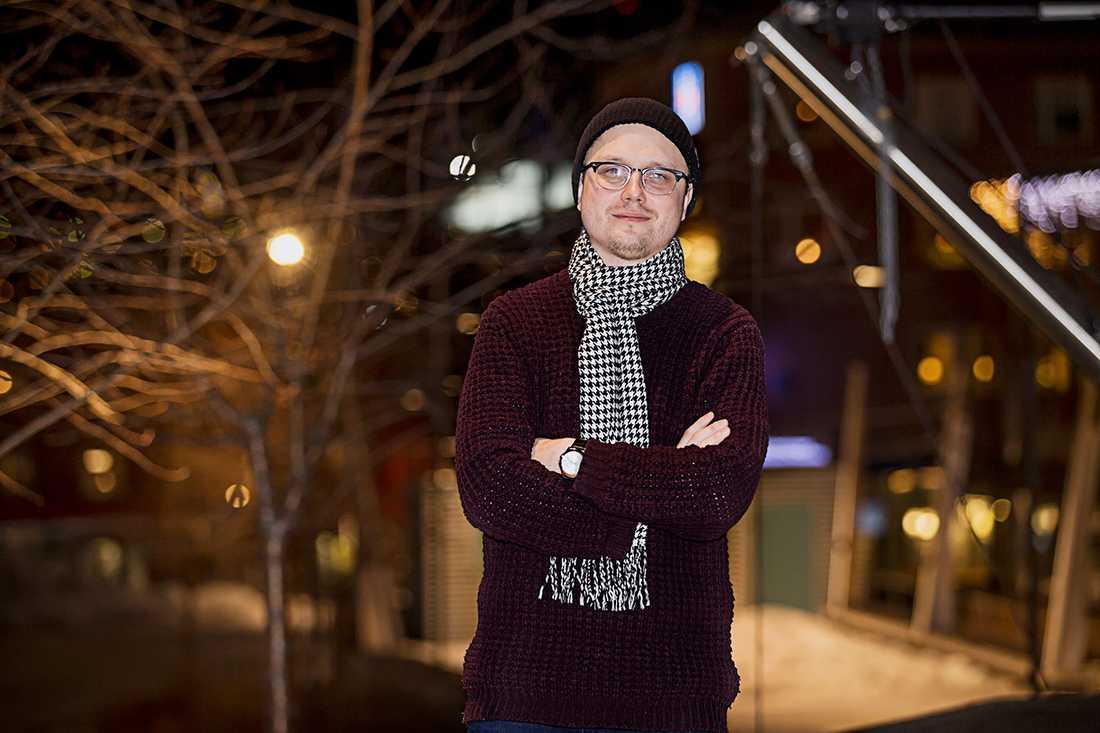Markus Larsson på plats i Östersund.