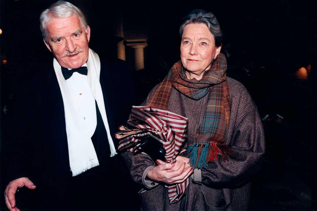 Hasse och Gunilla Alfredson på guldbaggegalan 1998.