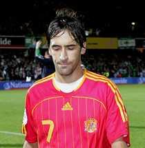 På väg ut - för gott? 29-årige Raul är Spaniens meste målskytt genom tiderna med 44 fullträffar på 102 landskamper. Mot Sverige får han inte chansen att öka på skörden.