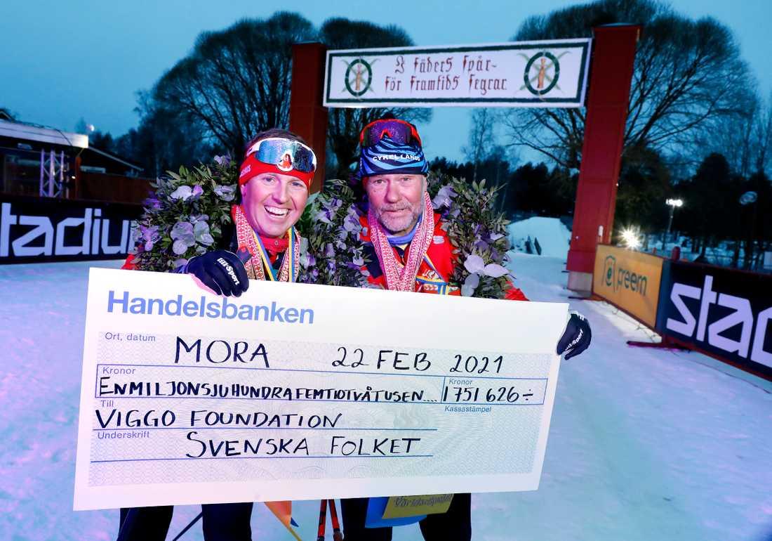 Måns Möller och Christer Skog efter tionde loppet på lika många dagar.