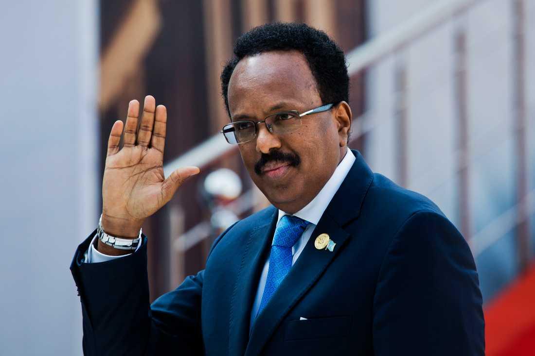 President Mohamed Abdullahi Mohamed sitter kvar vid makten. Arkivbild.