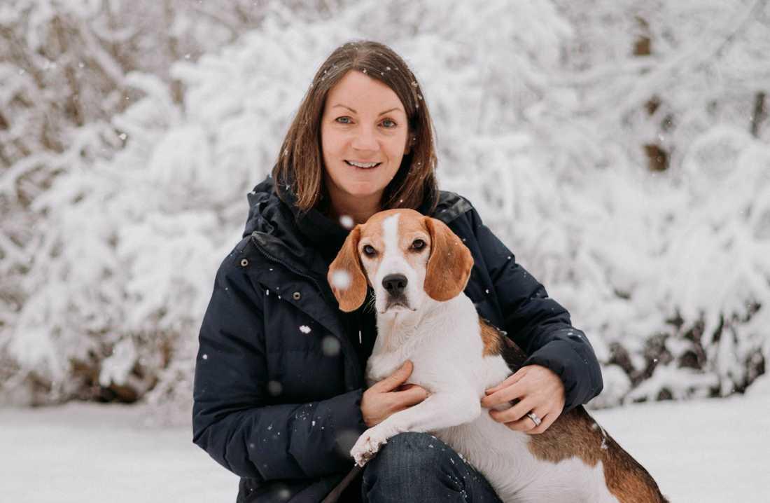 Kicki Fellstenius driver hundträningsföretaget Glada Jyckar som har märkt en kraftigt ökande efterfrågan under pandemin. Arkivbild.