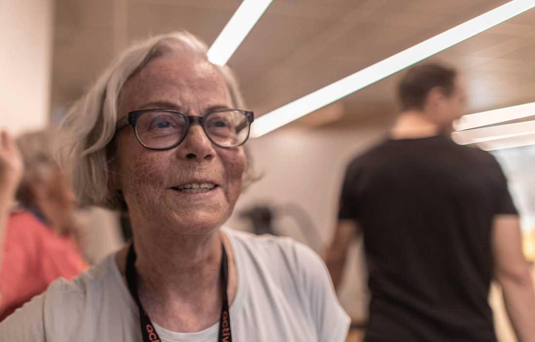 Eva Hägerstrand, 72, har precis som många andra tränat av och till under hela livet.