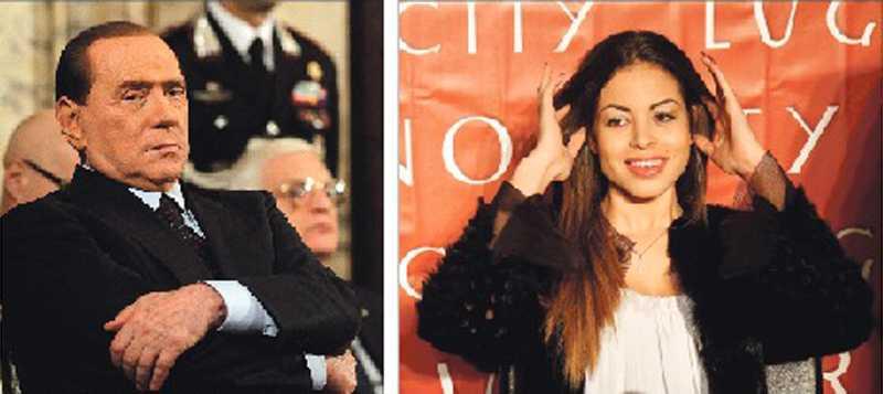 I SKANDALENS CENTRUM  Silvio Berlusconi – och flickan han misstänks ha köpt sex av, Karima El Mahroug.