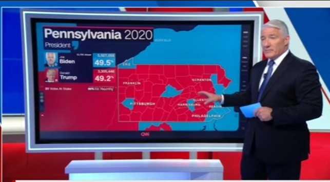 Under USA-valets första dagar var King live i tv 12–14 timmar om dagen.
