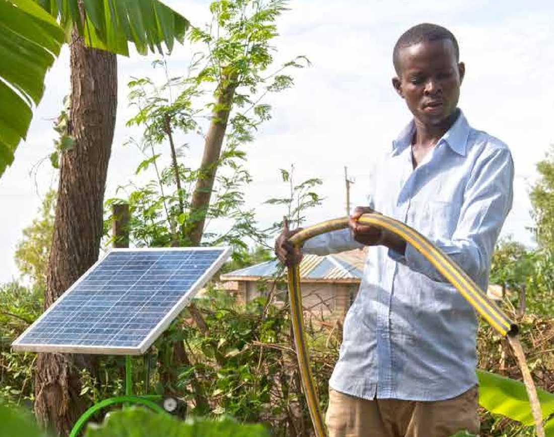 """För att nå målen vill organisationen """"stimulera små och medelstora företag att utveckla affärsmodeller, tjänster och produkter inom förnybar energi och jordbruk"""", enligt Sida."""